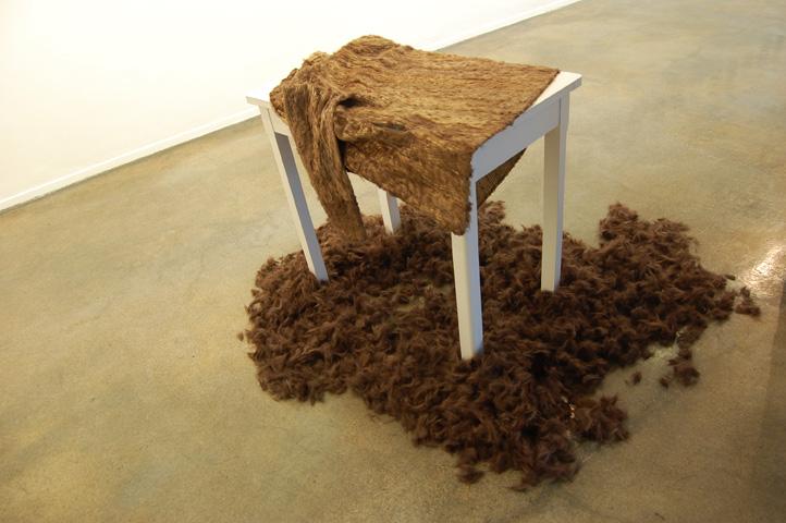 Il pèle ici, manteau de fourrure, Le Granit, Belfort, 2011