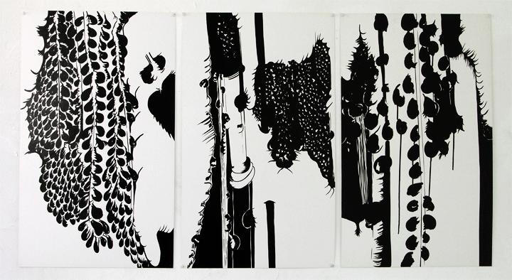 3 Humeurs 2008, 52x72 cm