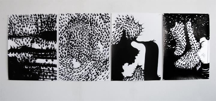 4 dessins 50 x 65 cm / 2013