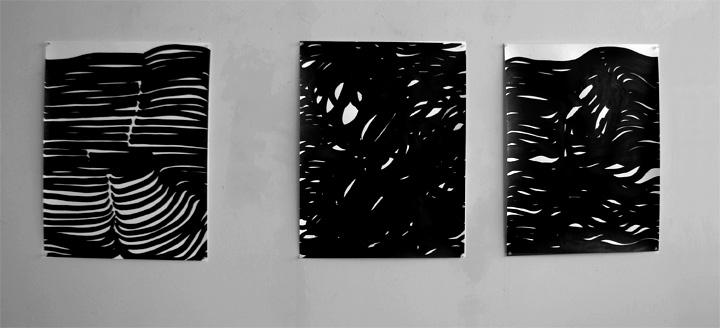 3 dessins 50 x 65 cm/ 2013
