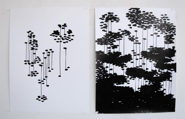2 dessins 50 x 65 cm / 2013