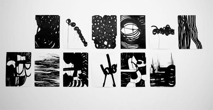 12 dessins 50x65 cm / 2013