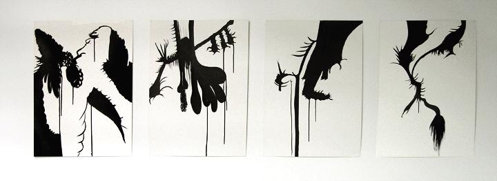 4 Humeurs 2007, 52 x72 cm