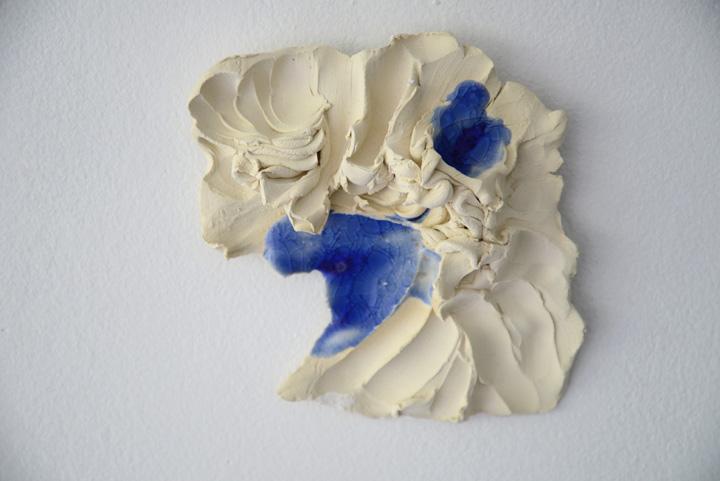 Sandstone, glass, 12 x 12 x 4 cm, 2013